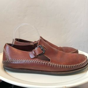 Cole Haan Soft Leather Buckle Shoes